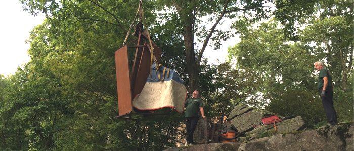 Installation de 2 sculptures monumentales dans l'état de New-York