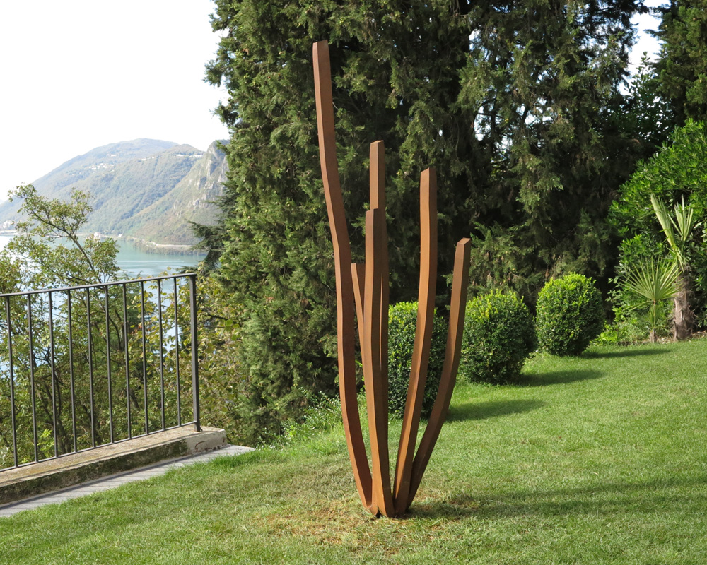 monumentales etienne viard sculpture art acier corten venasque uvre artiste. Black Bedroom Furniture Sets. Home Design Ideas