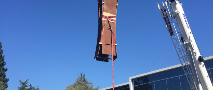 Installation of monumental works in Sunnyvale (USA)