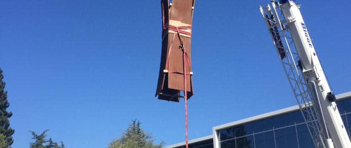 Installation d'œuvres monumentales à Sunnyvale (USA)
